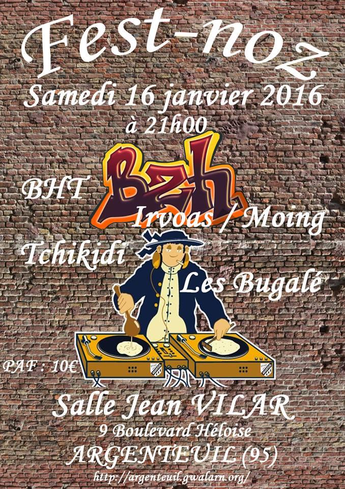 Affiche Fest-noz  à Argenteuil