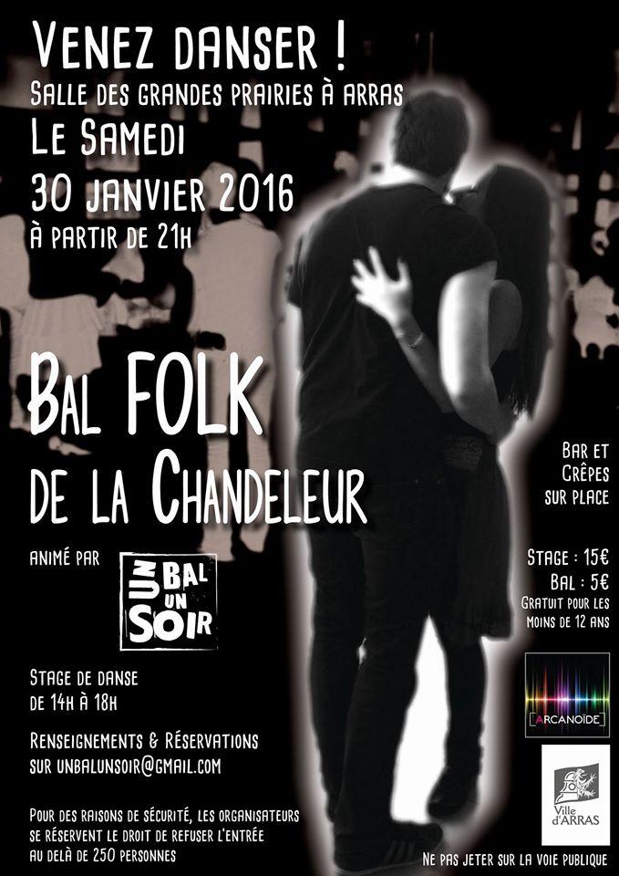 Affiche Bal folk bal folk de la chandeleur à Arras
