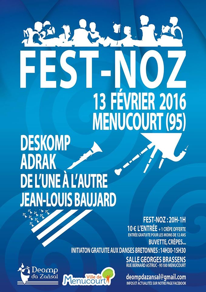 Affiche Fest-noz  à Menucourt