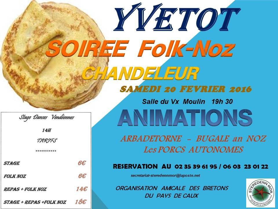 Affiche Bal folk fest-noz  à Yvetot