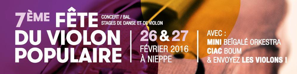 Affiche Bal folk fête du violon populaire à Nieppe