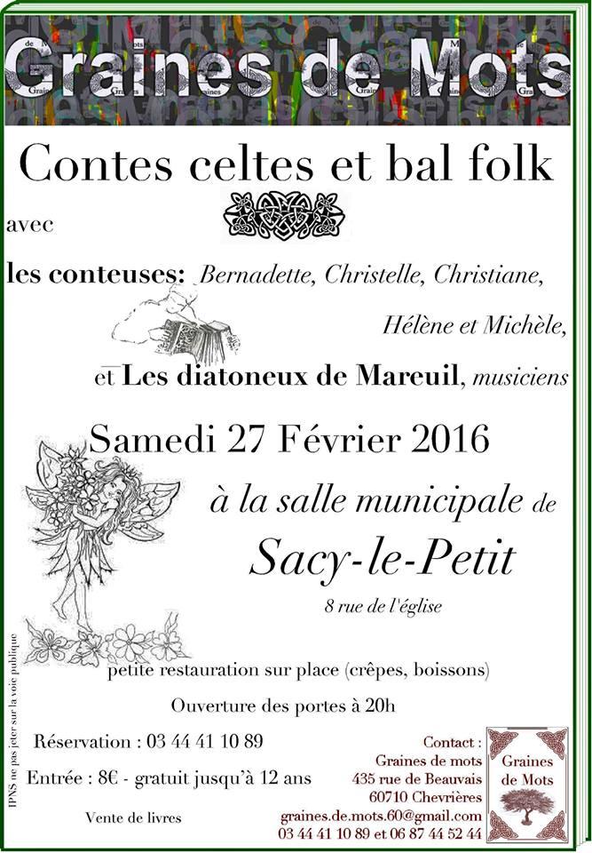 Affiche Bal folk contes celtes et bal folk à Sacy-le-Petit