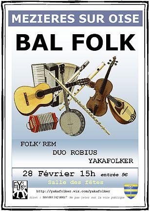 Affiche Bal folk  à Mézières-sur-Oise