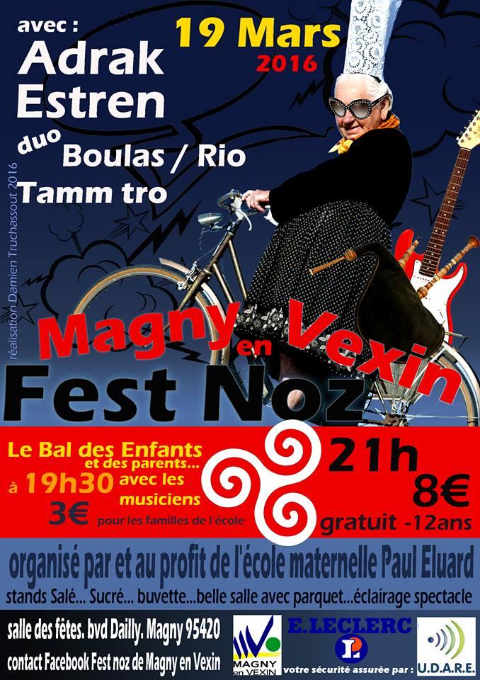 Affiche Fest-noz 4e fest noz de Magny en Vexin à Magny-en-Vexin