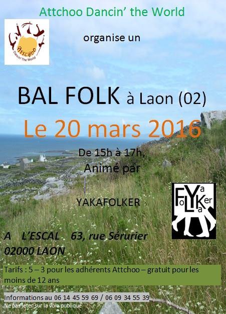 Affiche Bal folk  à Laon