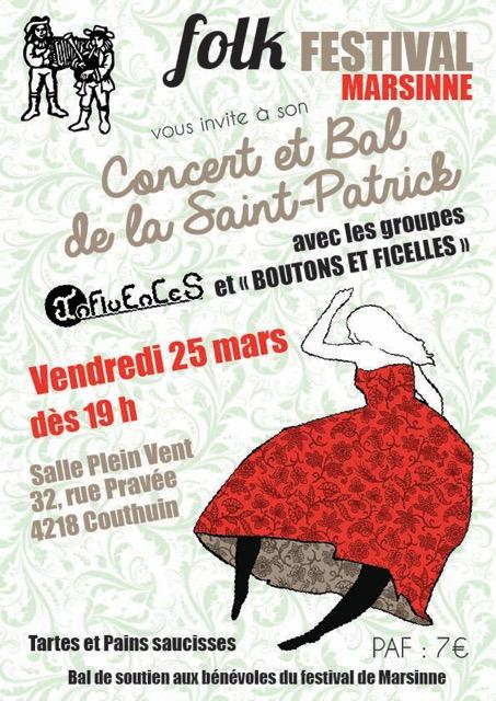Affiche Bal folk concert et bal folk à Couthuin, Héron
