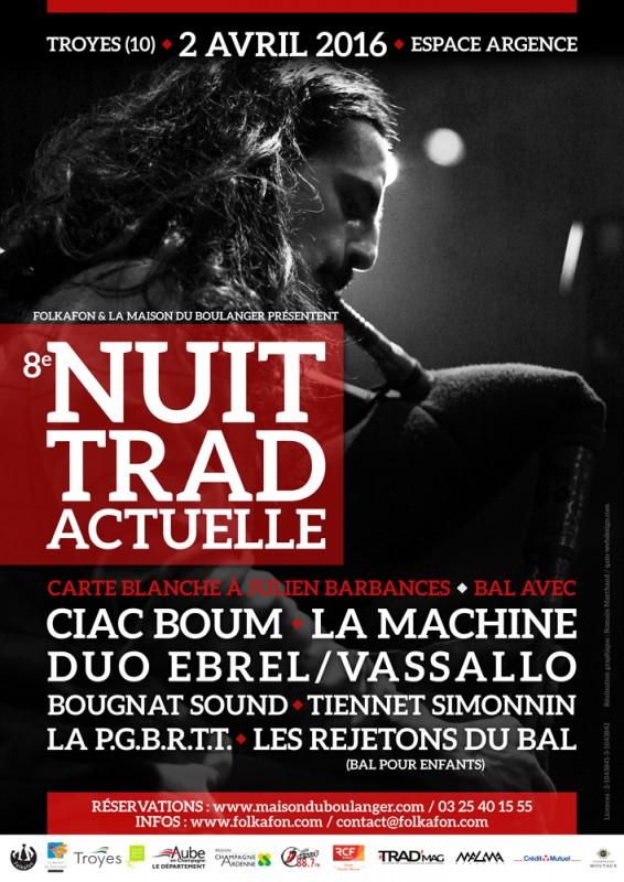 Affiche Bal folk 8e nuit trad'actuelle (stages, bal pour enfant et bal folk) à Troyes