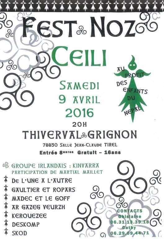 Affiche Fest-noz Fest-noz Céili à Thiverval-Grignon