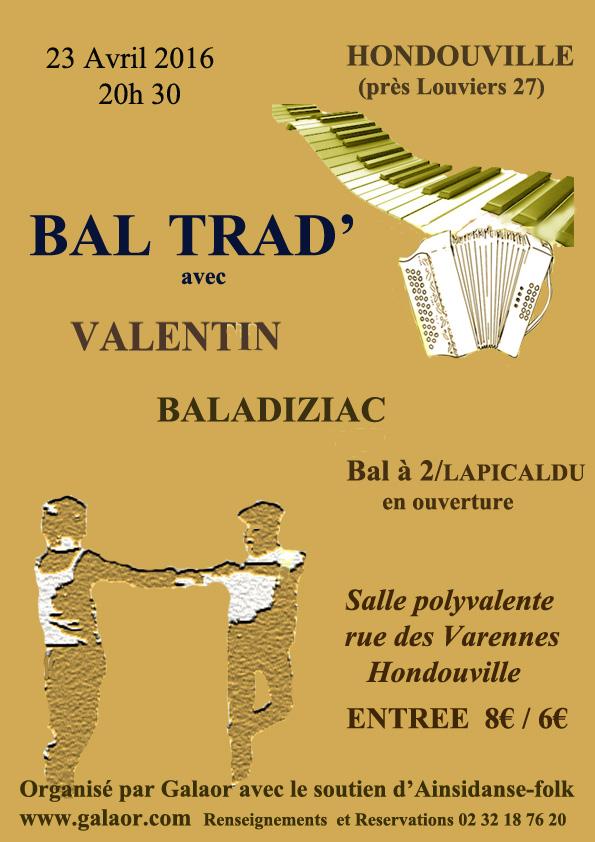 Affiche Bal folk bal trad à Hondouville