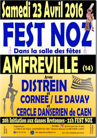 Affiche Fest-noz  à Amfreville
