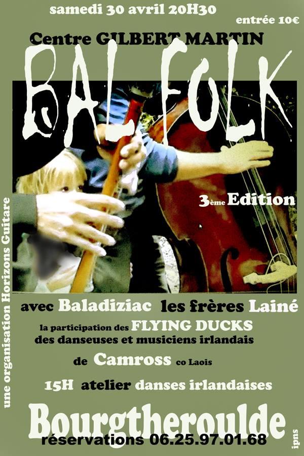 Affiche Bal folk 3ème édition du bal traditionnel à Boutgtheroulde