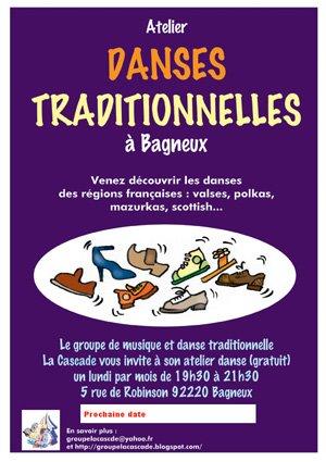Affiche Atelier danse trad à Bagneux