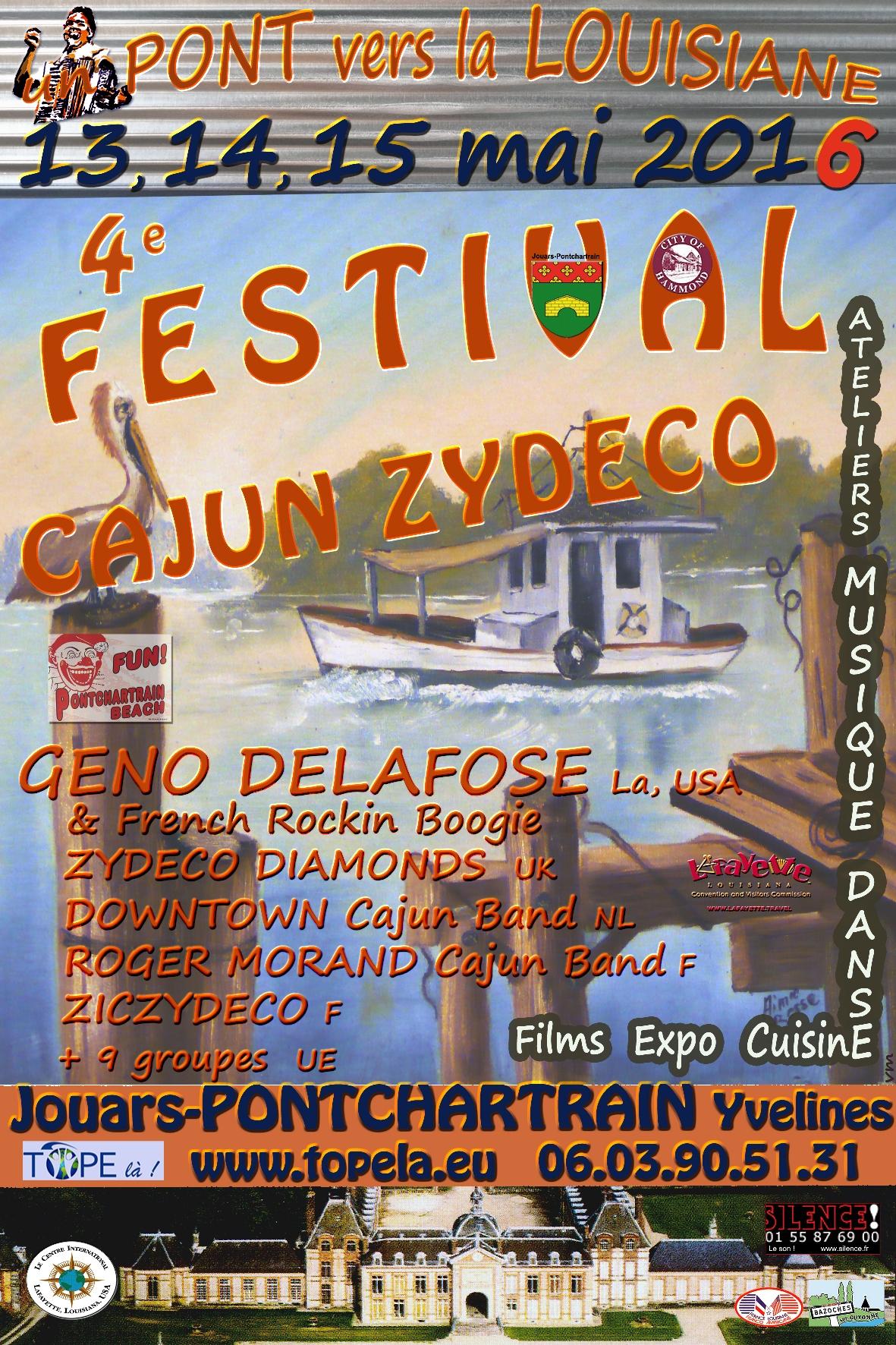 Affiche Festival musique et danse cajun & zydeco, Un pont vers la Louisiane à Jouars-Pontchartrain