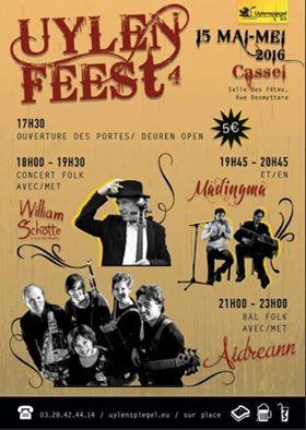 Affiche Bal folk Uylenfeest cassel à Cassel