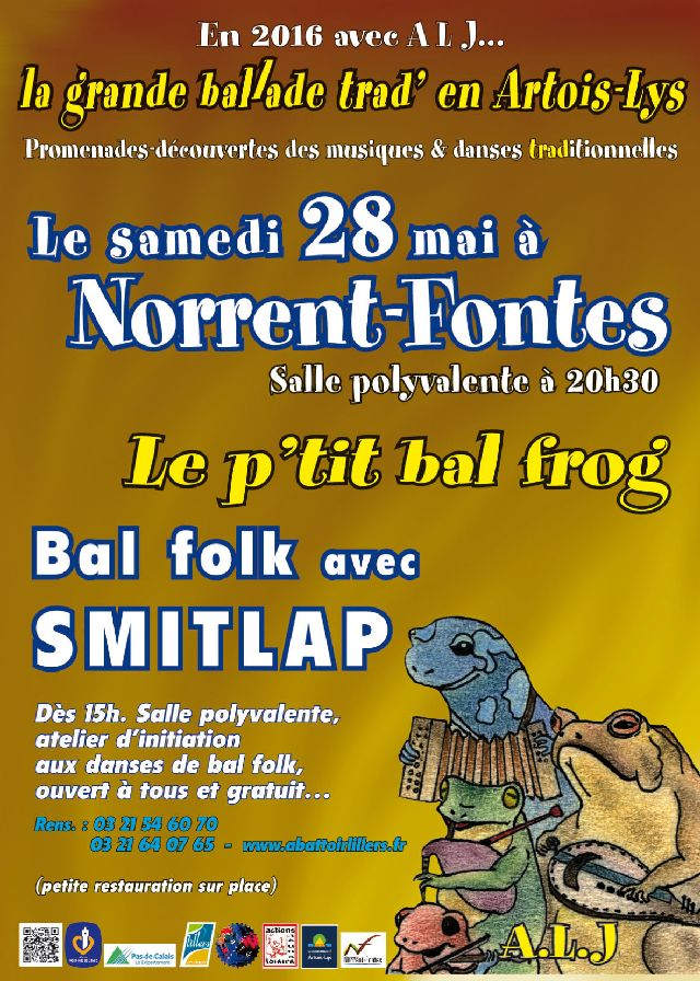 Affiche Bal folk le p'tit bal frog à Norrent-Fontes