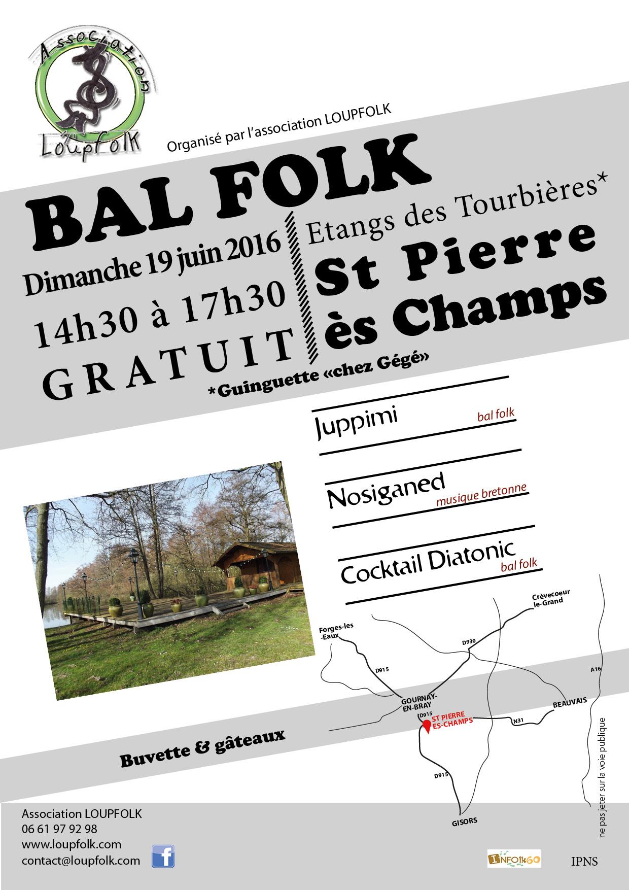 Affiche Bal folk  à Saint-Pierre-ès-Champs