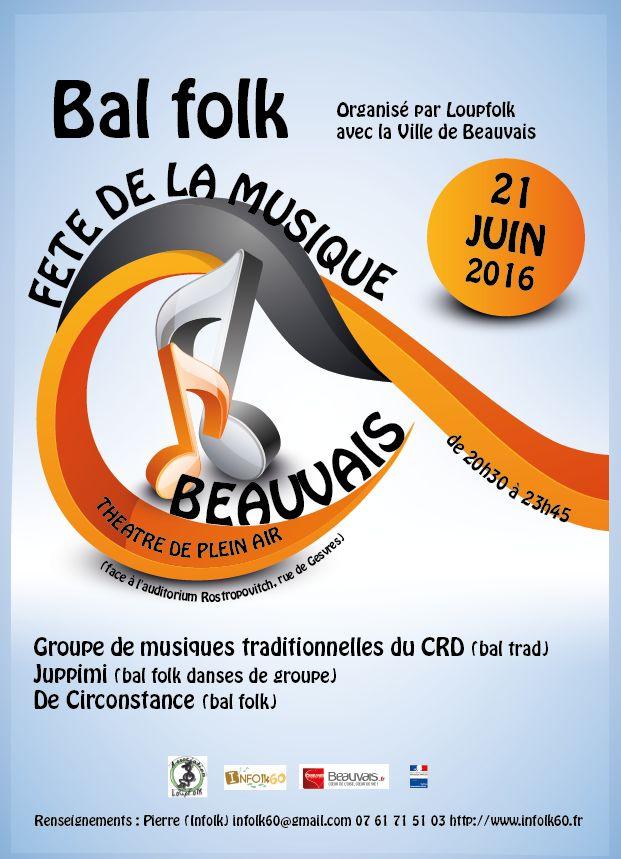Affiche Bal folk bal folk de la fête de la musique 2016 à Beauvais