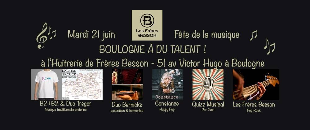 Affiche Animation fête de la musique Boulogne a du Talent! à Boulogne-Billancourt