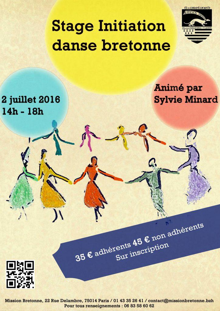Affiche Stage danse bretonne à Paris