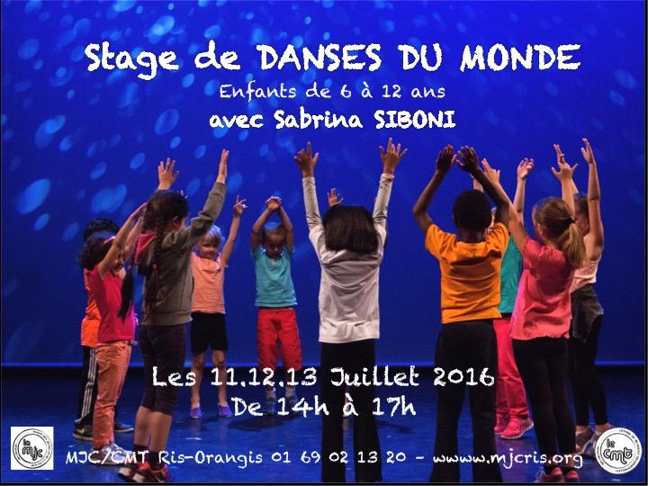Affiche Stage danses du Monde (pour les enfants) à Ris-Orangis