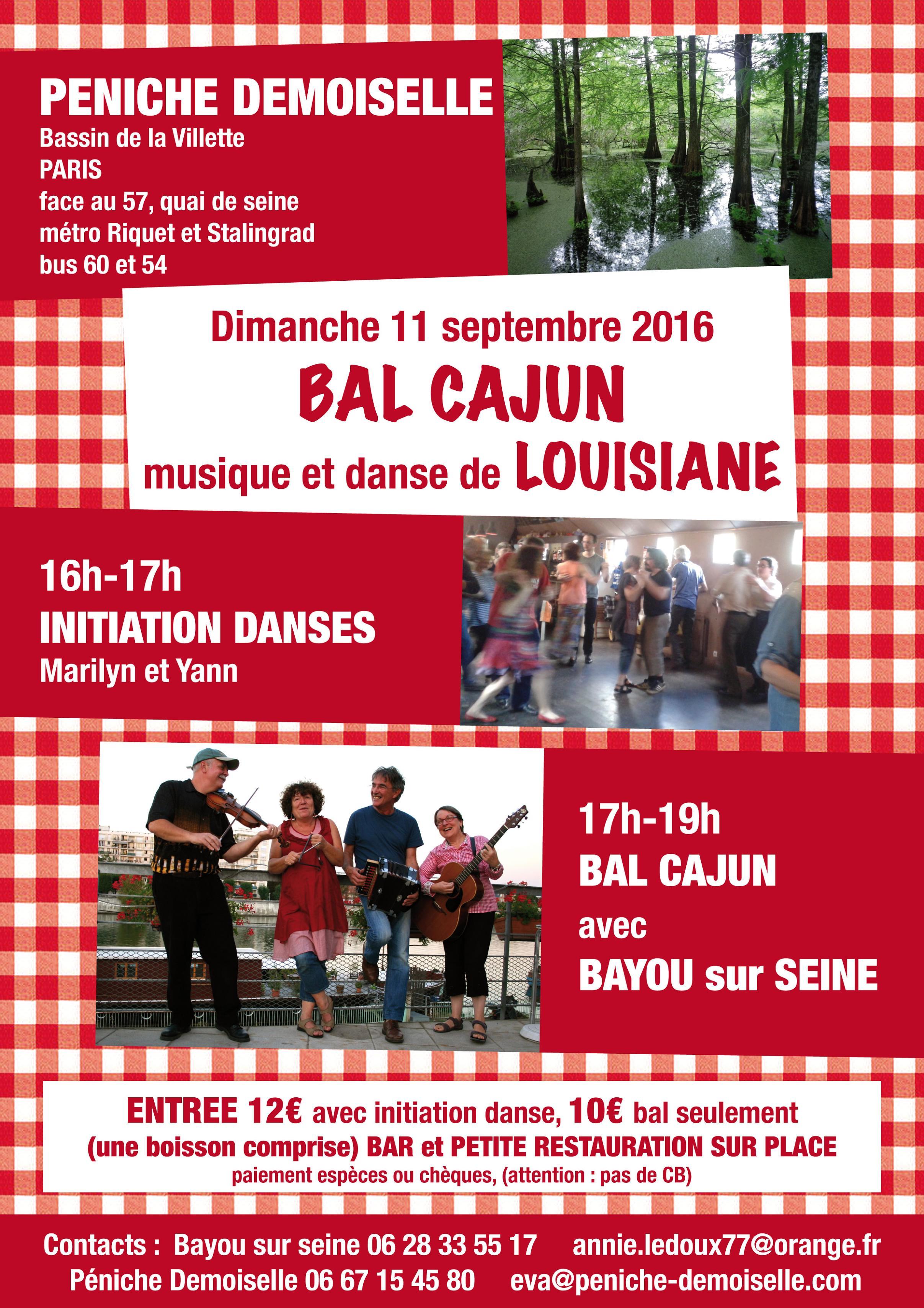 Affiche Cajun bal cajun + stage à Paris