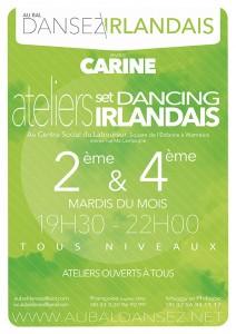 Affiche Atelier annuel set dancing irlandais chaque 2ème et 4ème mardi du mois à Wattrelos