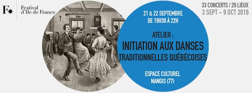 Affiche Atelier initiation aux danses traditionnelles québécoises à Nangis