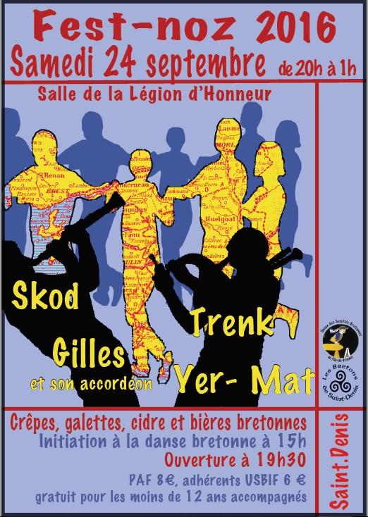 Affiche Fest-noz  à Saint-Denis