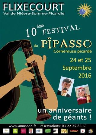 Affiche Festival 10e festival du pipasso à Flixecourt