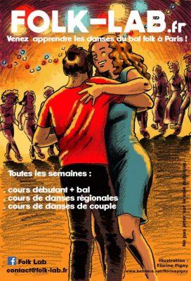 Affiche Atelier annuel danses traditionnelles régionales tous les lundis à Paris