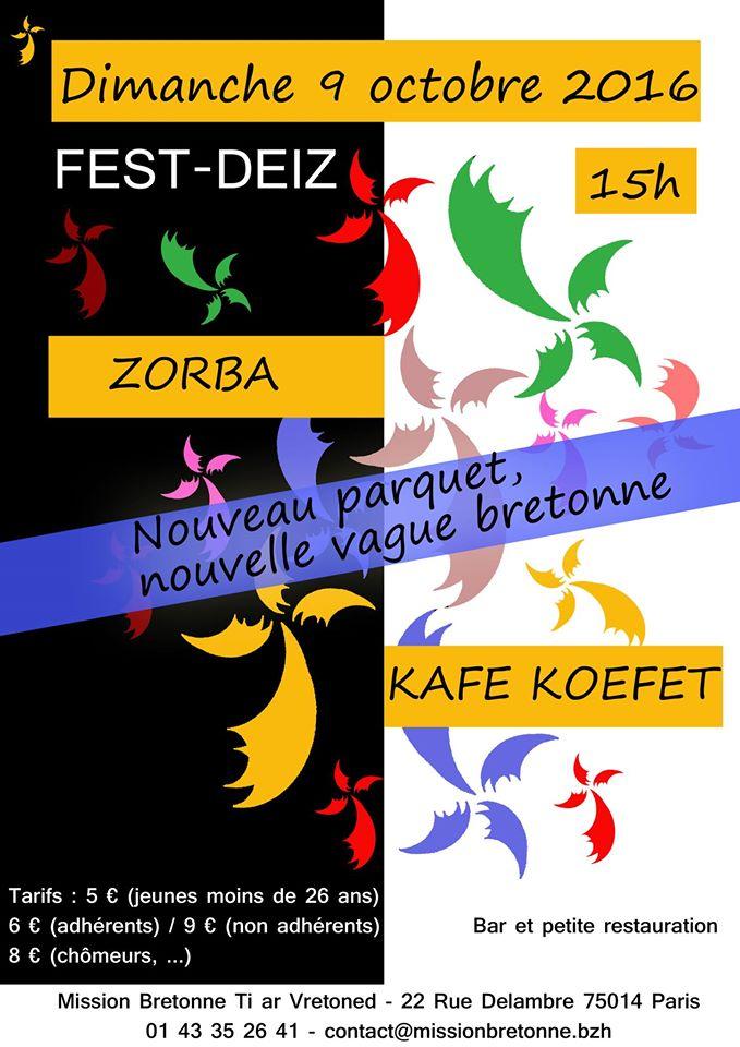 Affiche Fest-deiz MB nouveau plancher ! à Paris