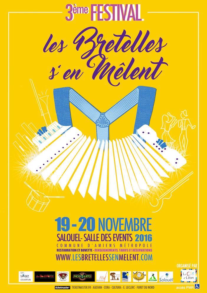 Affiche Festival Les bretelles s'en mêlent à Salouël