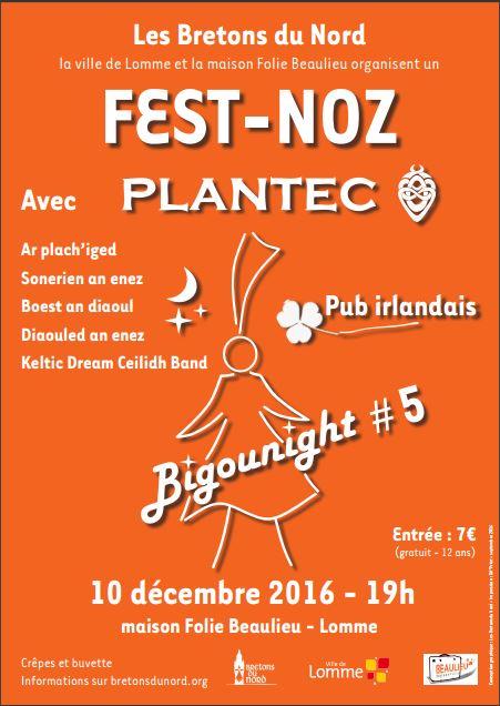 Affiche Fest-noz Bigounight #5 à Lomme