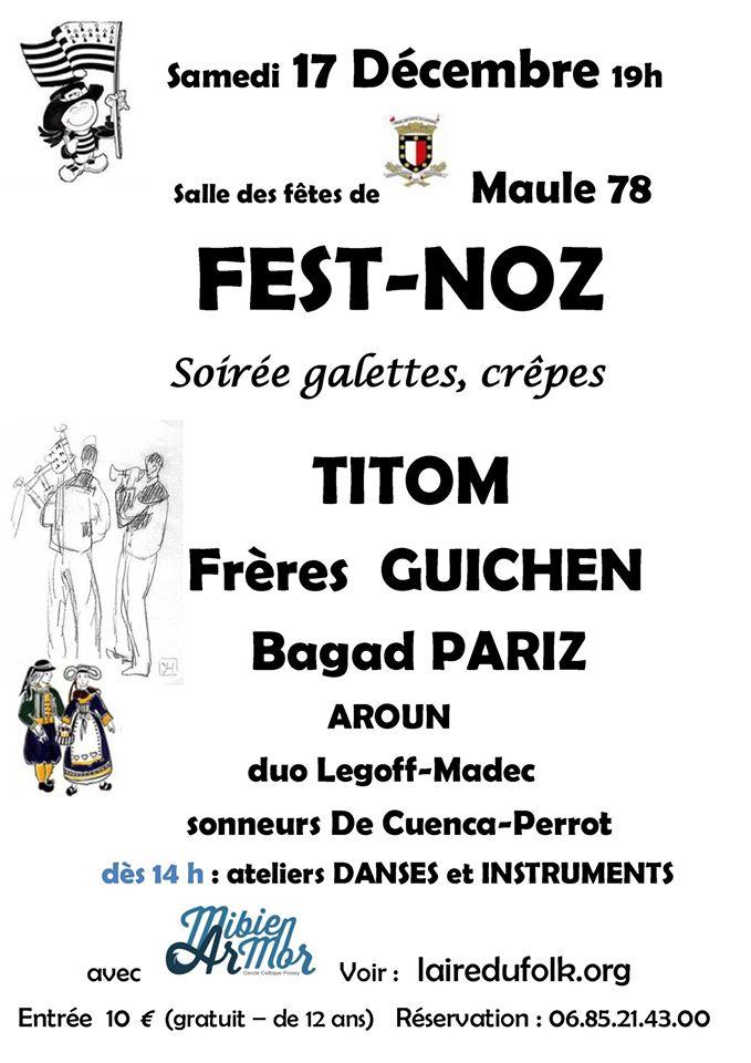 Affiche Fest-noz fest-noz de Noël à Maule