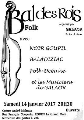 Affiche Bal folk bal des rois de Galaor à Rouen