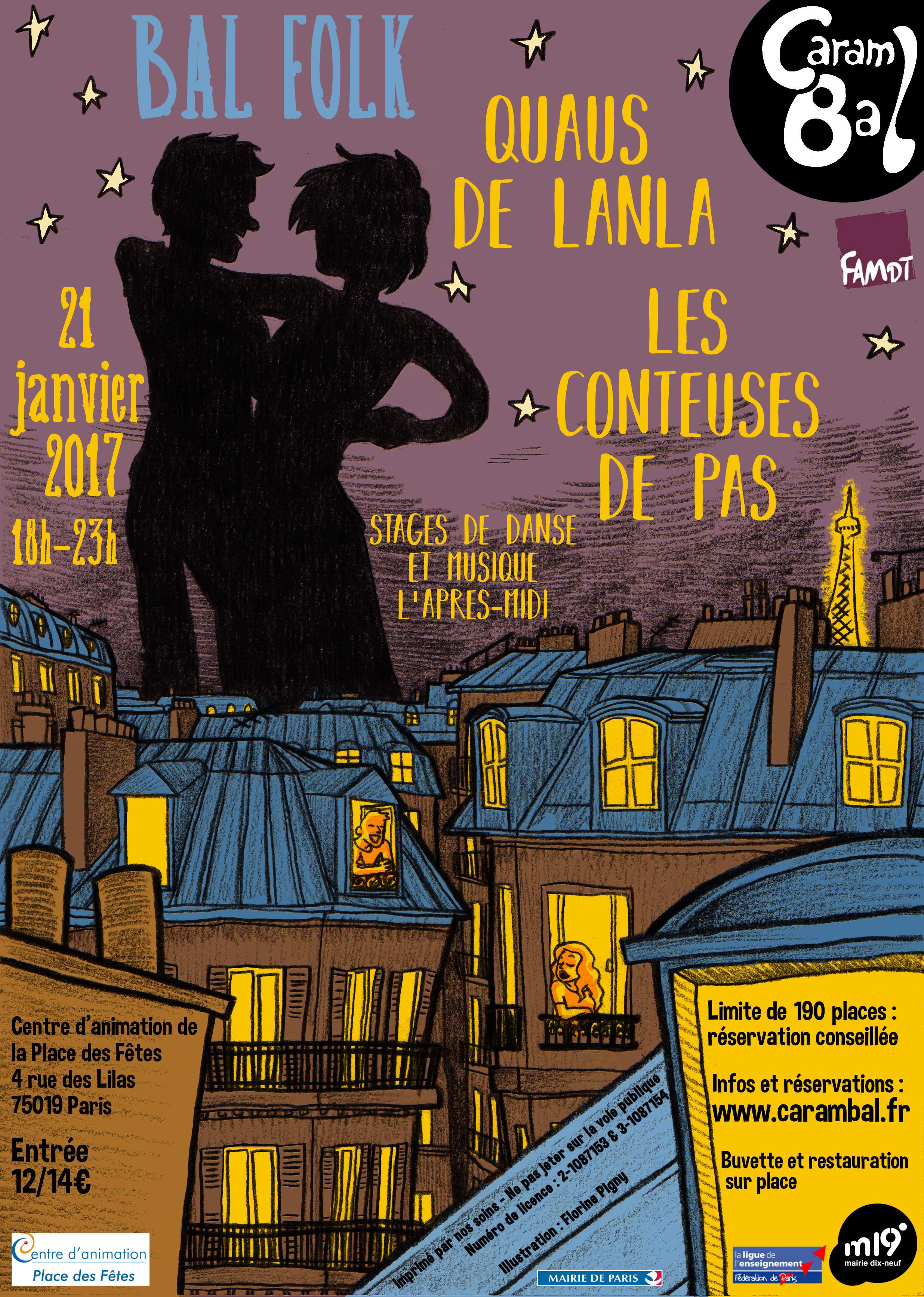 Affiche Bal folk bal folk à la voix à Paris