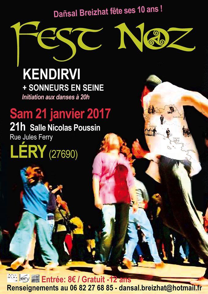 Affiche Fest-noz  à Léry