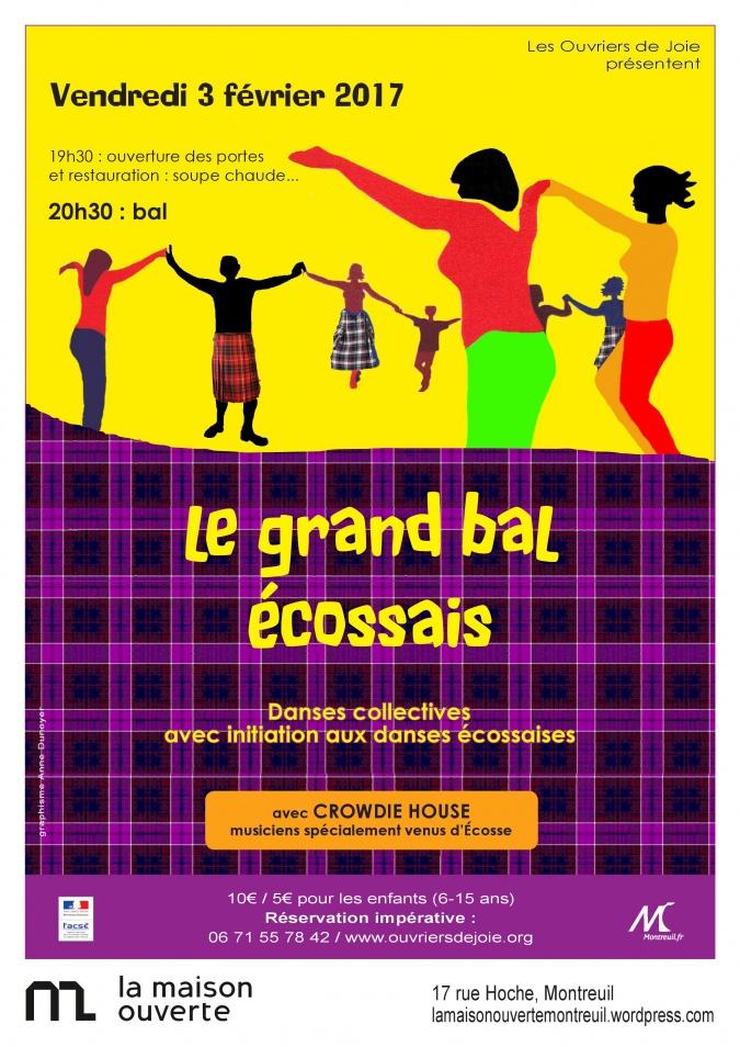Affiche Bal folk le grand bal écossais à Montreuil