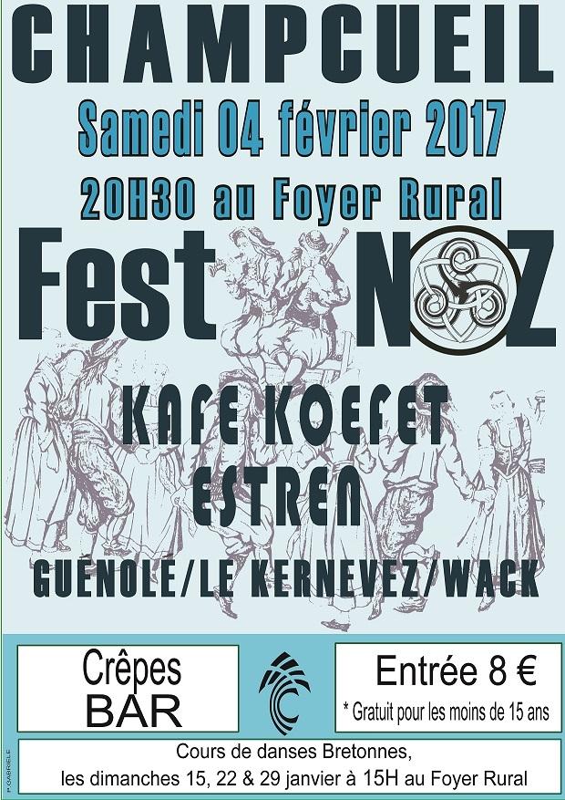 Affiche Fest-noz  à Champcueil