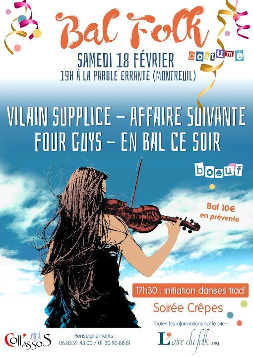 Affiche Bal folk bal folk costumé ou déguisé à Montreuil