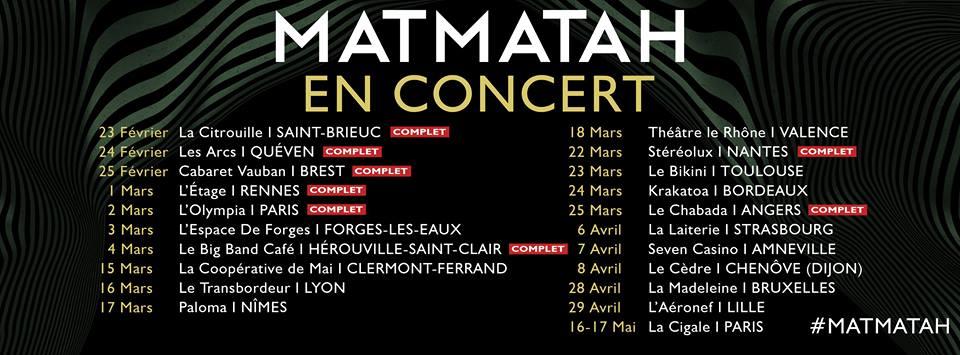Affiche Concert Matmatah à Paris