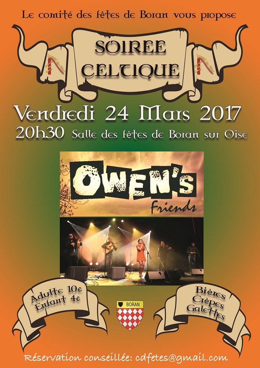 Affiche Musique 6e soirée celtique à Boran-sur-Oise