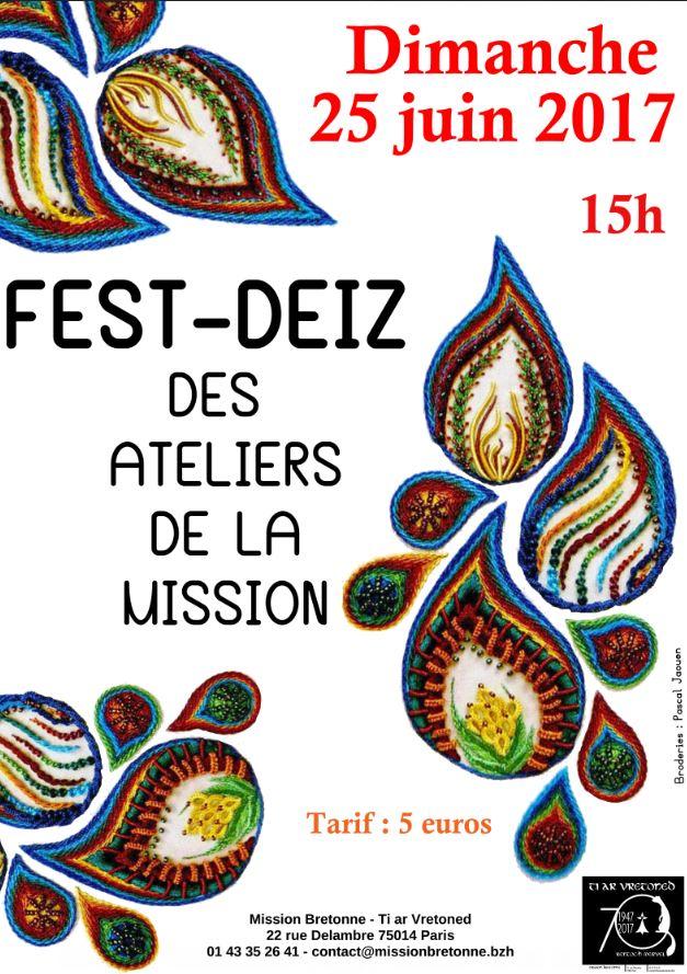 Affiche Fest-deiz fest-deiz des ateliers à Paris