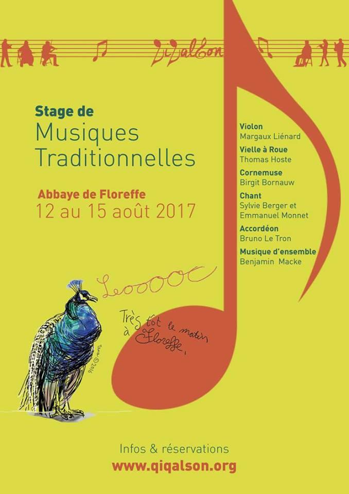 Affiche Stage stage d'été en Belgique - musique trad à Floreffe