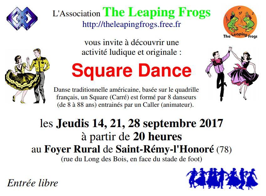 Affiche Atelier annuel Square Dance tous les jeudis sauf vacances scolaire à Saint-Rémy-l'Honoré