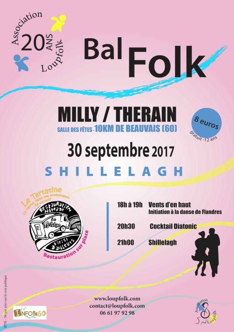 Affiche Bal folk bal des 20 ans de Loupfolk à Milly-sur-Thérain
