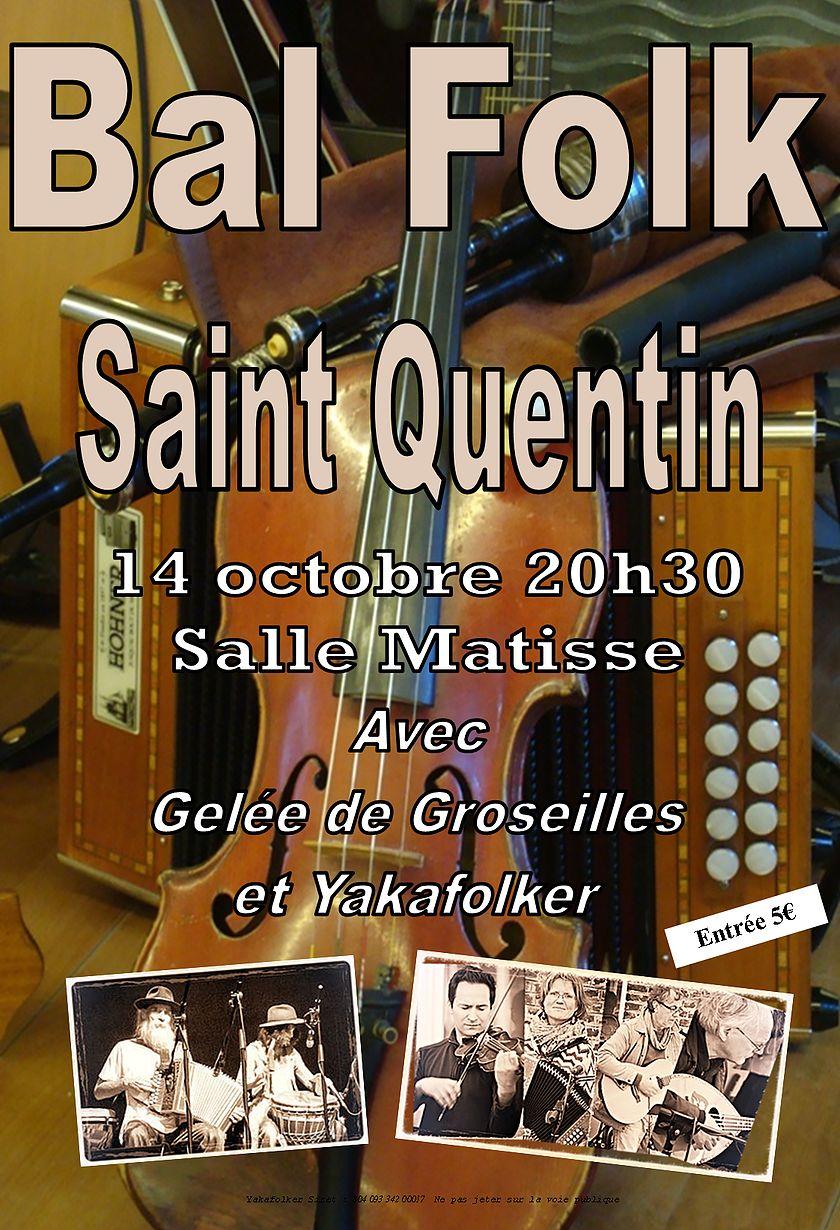 Affiche Bal folk  à Saint-Quentin