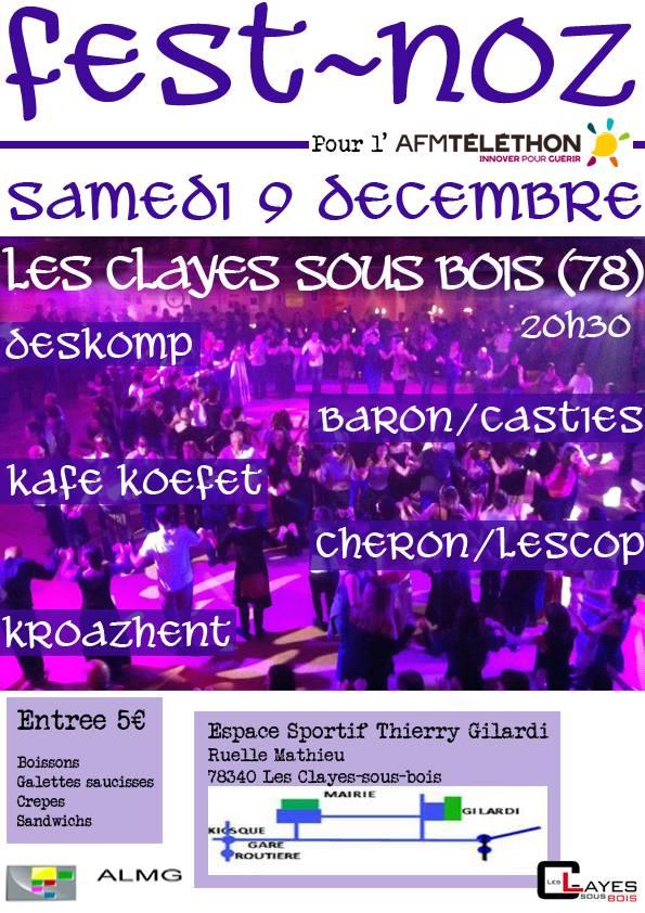 Affiche Fest-noz  à Les Clayes-sous-Bois