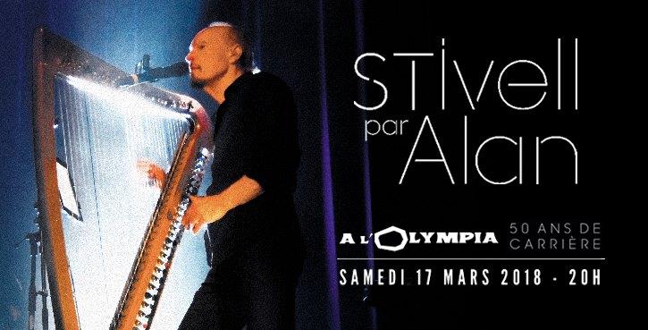 Affiche Concert Alan Stivell à L'Olympia à Paris