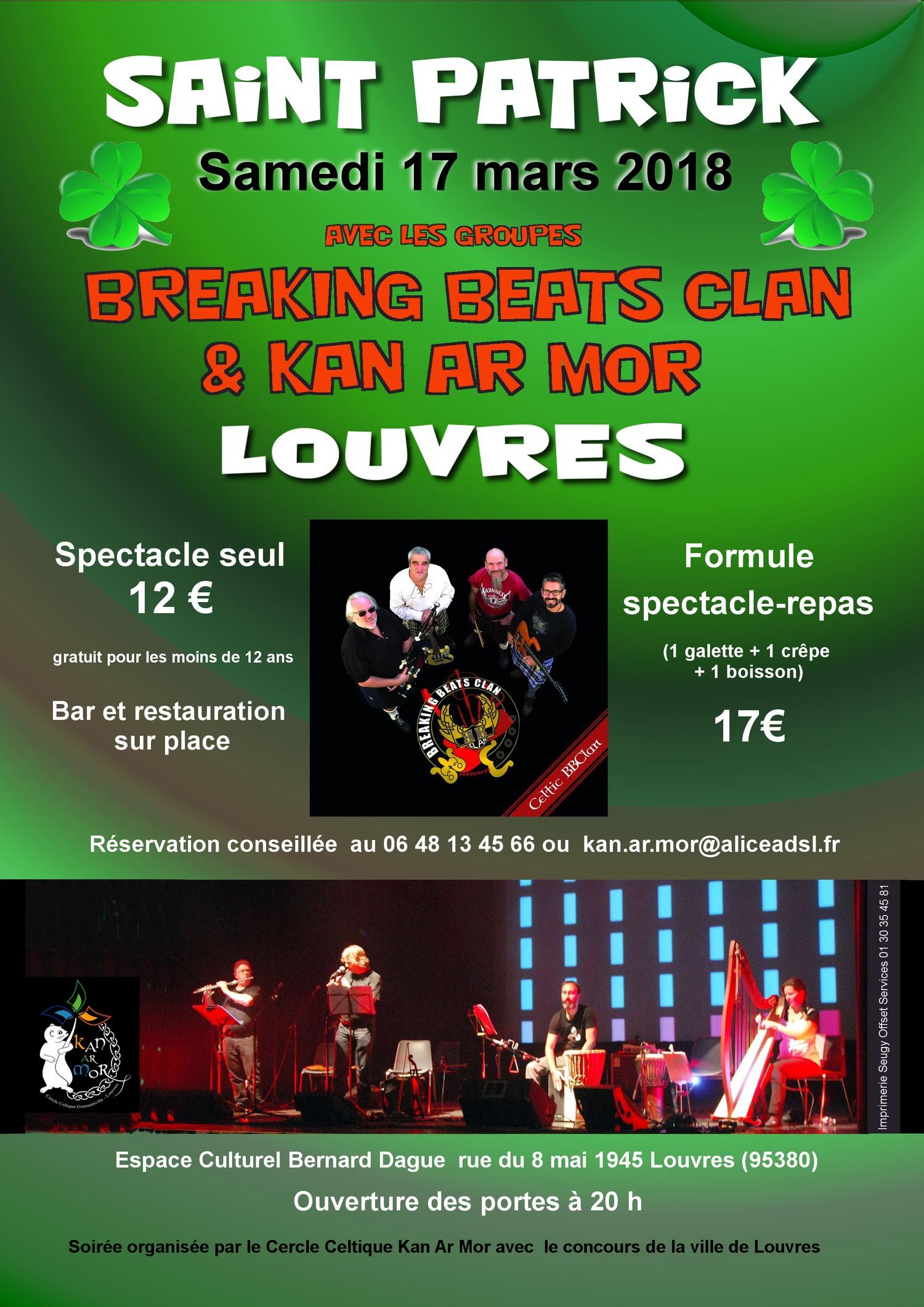 Affiche Concert soirée de la St Patrick à Louvres